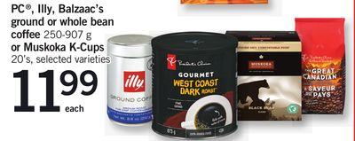 PC - Illy - Balzaac's Ground Or Whole Bean Coffee 250-907 G Or Muskoka K-cups 20's