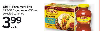 Old El Paso Meal Kits 227-510 g Or Salsa 650 Ml