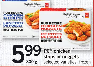PC Chicken Strips Or Nuggets - 800 g