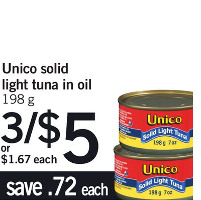 Unico Solid Light Tuna In Oil - 198 g
