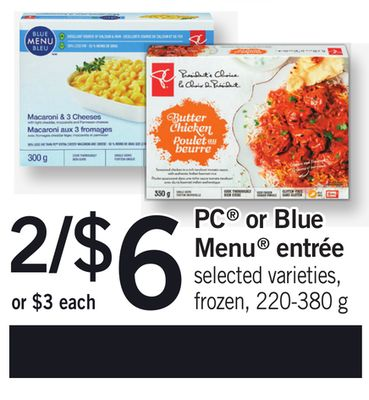 PC Or Blue Menu Entrée - 220-380 g