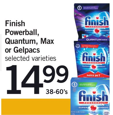 Finish Powerball - Quantum - Max Or Gelpacs - 38-60's