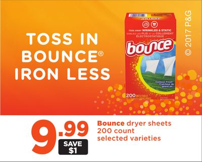 Bounce Dryer Sheets - 200 Count