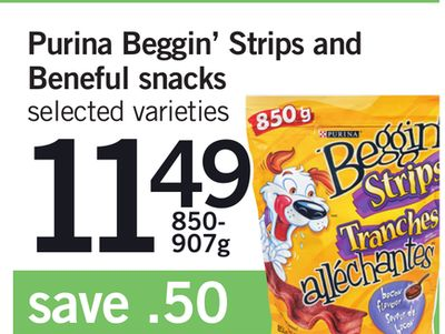 Purina Beggin' Strips And Beneful Snacks. - 850- 907g