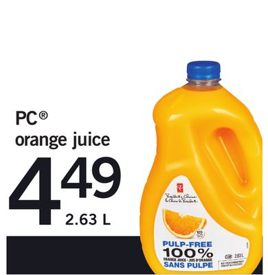 PC Orange Juice - 2.63 L