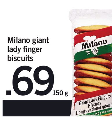 Milano Giant Lady Finger Biscuits - 150 g