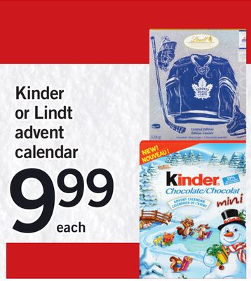 Kinder Or Lindt Advent Calendar