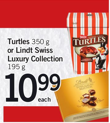 Turtles - 350 g Or Lindt Swiss Luxury Collection - 195 g