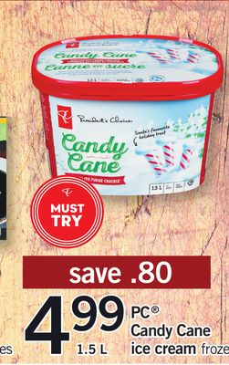 PC Candy Cane Ice Cream Froze - 1.5 L
