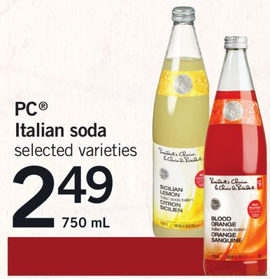 PC Italian Soda - 750 mL