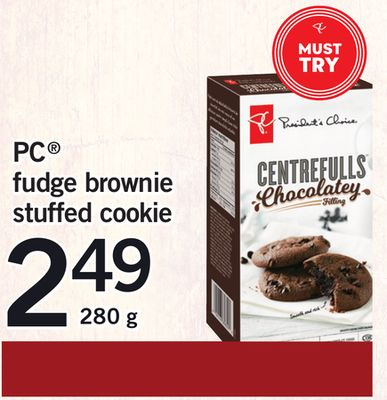 PC Fudge Brownie Stuffed Cookie - 280 g
