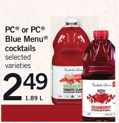 PC Or PC Blue Menu Cocktails - 1.89 L