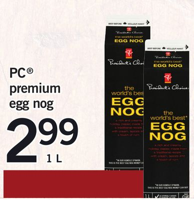 PC Premium Egg Nog - 1l