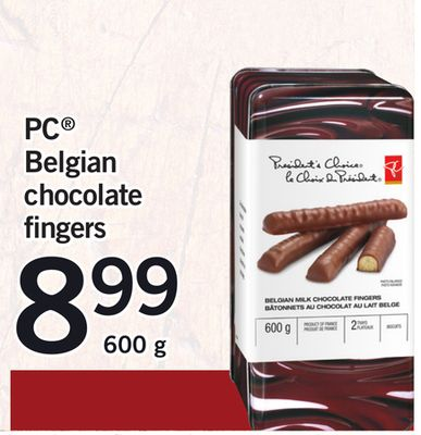 PC Belgian Chocolate Fingers - 600g