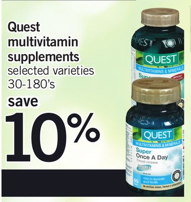 Quest Multivitamin Supplements - 30-180's