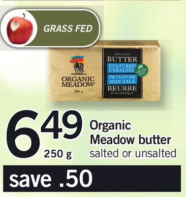 Organic Meadow Butter 250g