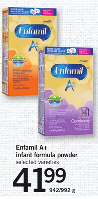 Enfamil A+ Infant Formula Powder - 942/992 g