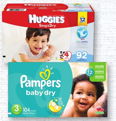 Pampers Or Huggies Super Big Pack Diapers - Size N - 6