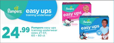 Pampers Easy Ups Training Underwear - 60 – 80 Ct