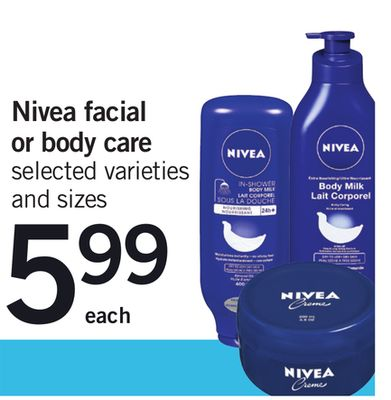 Nivea Facial Or Body Care