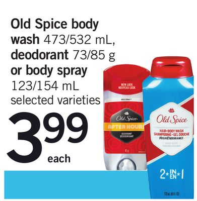 Old Spice Body Wash 473/532 Ml - Deodorant 73/85 G Or Body Spray 123/154 Ml