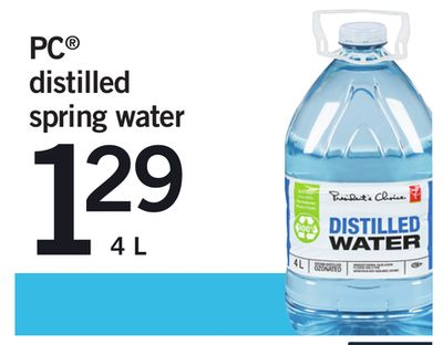 PC Distilled Spring Water - 4 L