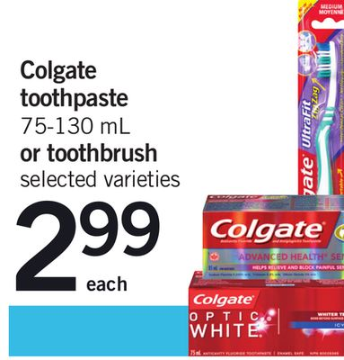 Colgate Toothpaste 75-130 Ml Or Toothbrush