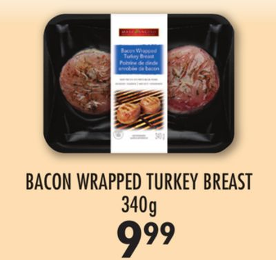 Bacon Wrapped Turkey Breast 340g