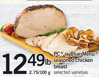 PC Or Blue Menu Seasoned Chicken Breast