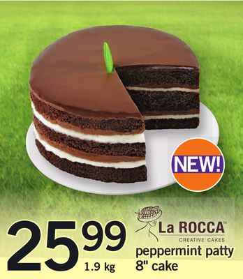 La Rocca Peppermint Patty 8'' Cake - 1.9 Kg
