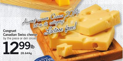Congruet Canadian Swiss Cheese