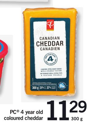 PC 4 Year Old Coloured Cheddar 300 g