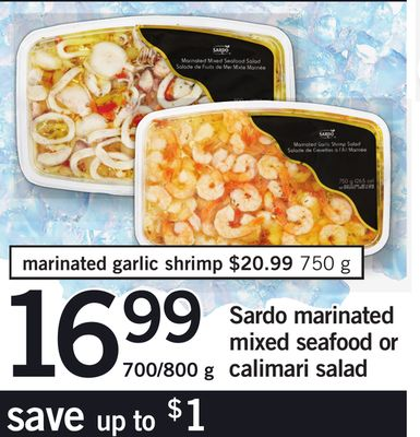 Sardo Marinated Mixed Seafood Or Calimari Salad - 700/800 g