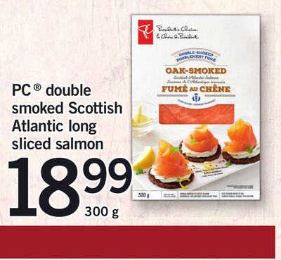 PC Double Smoked Scottish Atlantic Long Sliced Salmon - 300 g