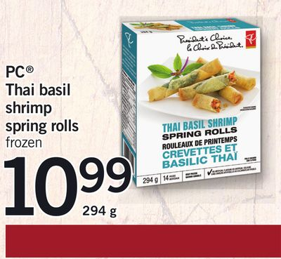 PC Thai Basil Shrimp Spring Rolls - 294 g