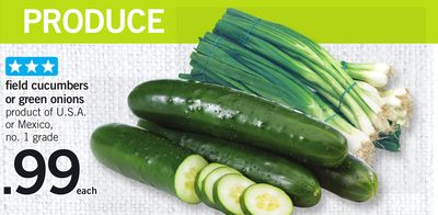 Field Cucumbers Or Green Onions