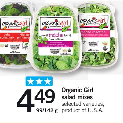 Organic Girl Salad Mixes - 99/142 g