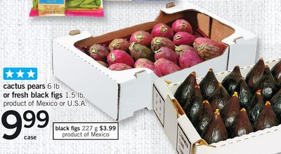 Cactus Pears 6 Lb Or Fresh Black Figs 1.5 Lb