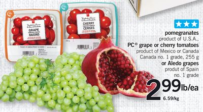 Pomegranates - PC Grape Or Cherry Tomatoes Or Aledo Grapes