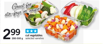 Cut Vegetables - 280-500 g