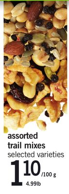 Assorted Trail Mixes - 4.99lb