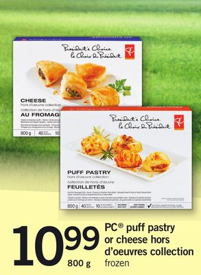 PC Puff Pastry Or Cheese Hors D'oeuvres Collection - 800 g