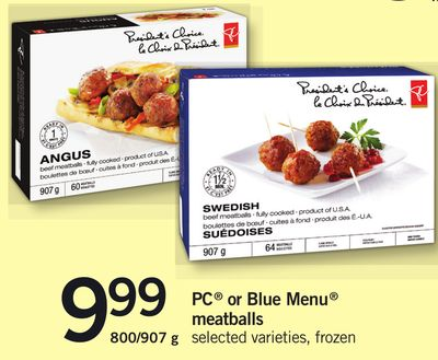 PC Or Blue Menu Meatballs - 800/907 g
