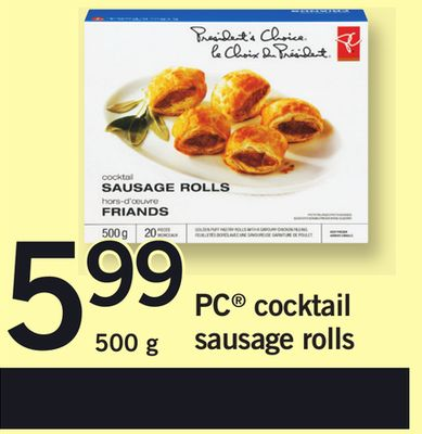 PC Cocktail Sausage Rolls - 500 g