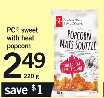 PC Sweet With Heat Popcorn - 220 g