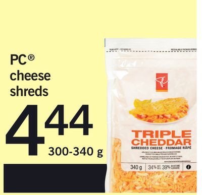 PC Cheese Shreds - 300-340 g