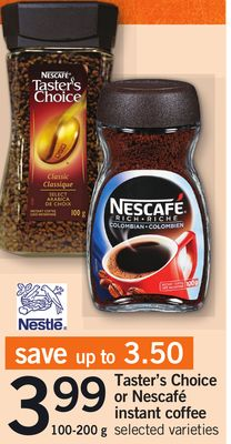 Taster's Choice Or Nescafé Instant Coffee - 100-200 g