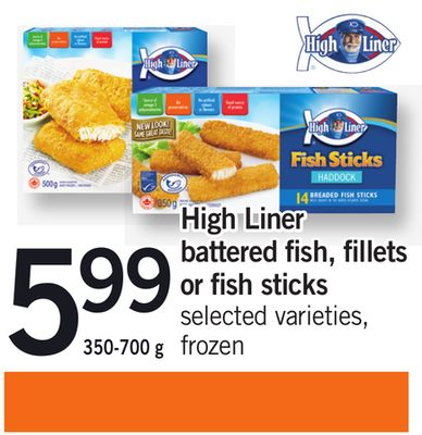 High Liner Battered Fish - Fillets Or Fish Sticks - 350-700 g