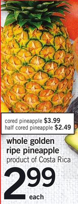 Whole Golden Ripe Pineapple