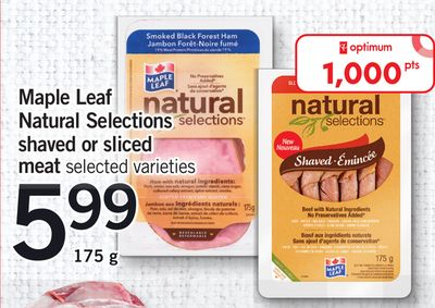 Maple Leaf Natural Selections Shaved Or Sliced Meat - 175 g